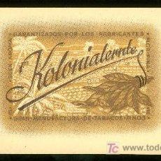 Vitolas de colección: VISTA DE TABACO. HABILITACION. BOFETON. KOLONIALERNTE.. Lote 16653374