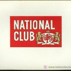 Vitolas de colección: VISTA DE TABACO. HABILITACION. BOFETON. NATIONAL CLUB.. Lote 16653521