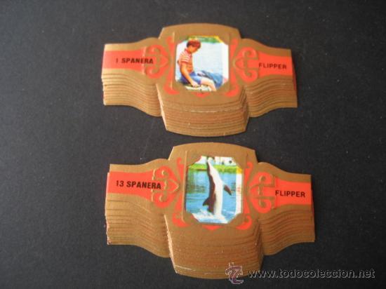 VITOLAS SPANERA. FLIPPER (ROJO). COLECCION COMPLETA 24 VITOLAS. (Coleccionismo - Objetos para Fumar - Vitolas)