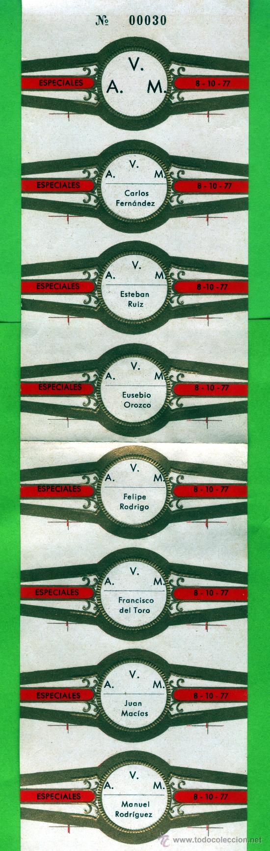 VITOLAS ESPECIAL DE Nº 30 DE TRESE SOCIOS DE LA ASICIACION VITOFILICA DE MADRID (Coleccionismo - Objetos para Fumar - Vitolas)