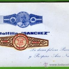 Vitolas de colección: VITOLAS CLASICA FELICITACION DE SEÑOR SANCHEZ DEL AÑO 1965 VITOLA DE HOYO MONTERREY. Lote 19267962
