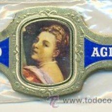Vitolas de colección: 14-1157. VITOLAS AGIO. CABEZAS DE MUJER, AZUL, 24 VIT. FM. Lote 22210834