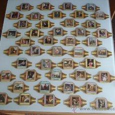 Vitolas de colección: LOTE DE 47 VITOLAS DE LA SERIE CUADROS DE PINTORES ESPAÑOLES DE ALVARO. . Lote 23390822