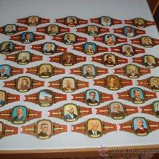 Vitolas de colección: LOTE DE 41 VITOLAS SERIE PREMIOS NOBEL DE ALVARO. . Lote 23390869