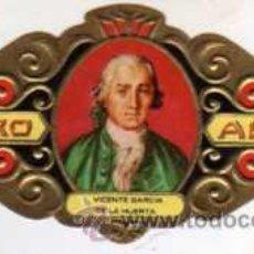 Vitolas de colección: VITOLA ALVARO - SERIE LITERATOS - VICENTE GARCIA DE LA HUERTA. Lote 29095949