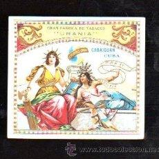Vitolas de colección: HABILITACION. VISTA. BOFETON. MARCA URANIA. CABAIGUAN (CUBA). Lote 29482275