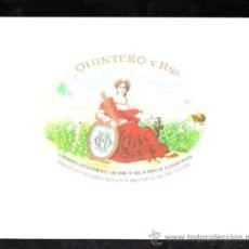 Vitolas de colección: HABILITACION. VISTA. BOFETON. MARCA QUINTERO Y HERMANOS. CIENFUEGOS (CUBA). Lote 29483299