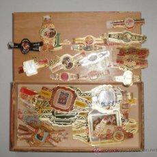 Vitolas de colección: VITOLAS VARIADAS. CASI 150 (72 DIFERENTES) REIG, ÁLVARO, CAPOTE, NEREIDA, LA FAMA. CAJA DE REGALO. Lote 30671432