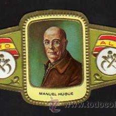 Vitolas de colección: VITOLA SERIE ESCULTORES N.37 MANUEL HUGUE - ALVARO. Lote 92040119
