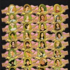 Vitolas de colección: SERIE COMPLETA 35 VITOLAS MUJERES FAMOSAS EN LAS LETRAS (POESIA) - ALVARO. Lote 176388345