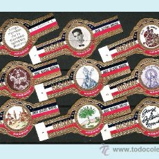 Vitolas de colección: PIEDRA (CUBA).SERIE DEL -ACERTIJO - CON 8 ANILLAS + LA RARA -LA RESPUESTA- SIN MARCA Y CON NUMERO. Lote 31081921