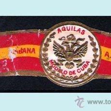 Vitolas de colección: A. ALLONES Y CIA. (CUBA). BANDERA ESPAÑOLA Y AGUILA. RARA.. Lote 31140739