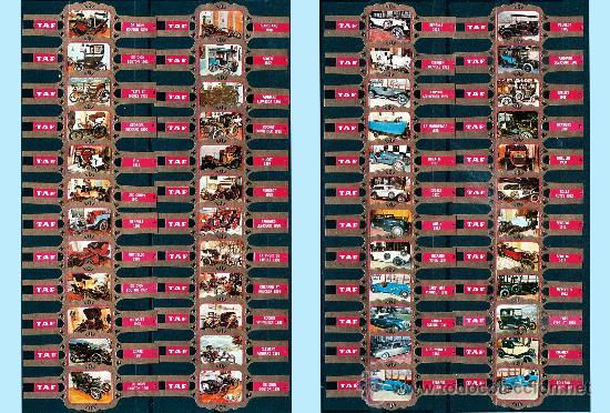 TAF (BELGICA). MUSEO DEL AUTOMOVIL (1ª Y 2ª SERIE) 48 VITOLAS. (Coleccionismo - Objetos para Fumar - Vitolas)
