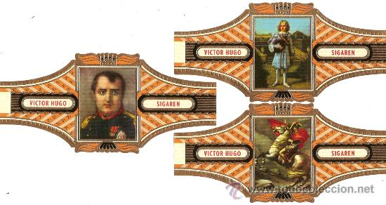VICTOR HUGO, 15 VITOLAS GRANDES (15X7), COLECCION COMPLETA SERIE 14 - NAPOLEON (Coleccionismos - Vitolas)