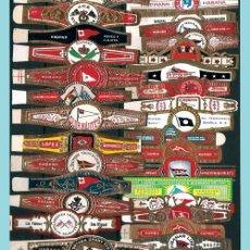 Vitolas de colección: LOTE CON 61 ANILLAS DIFERENTES DEL TEMA -BANDERAS- LA MAYORIA CUBANAS. PERFECTAS. . Lote 33412449