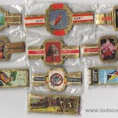 Vitolas de colección: BONITO LOTE COMPUESTO POR 10 SERIES DE VITOLAS TODAS DIFERENTES Y COMPLETAS.. Lote 34516494