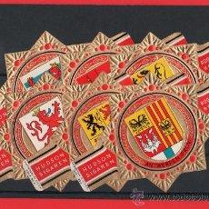 Vitolas de colección: SERIE DE VITOLAS COMPLETA (VER FOTOS) HUDSON. ESCUDOS SERIE A. (GRAN FORMATO 14,00 X 9,50 CMS.). Lote 37103562