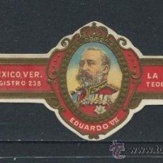 Vitolas de colección: VITOLA LA MODERNA - EDUARDO VII DE INGLATERRA. Lote 38021270
