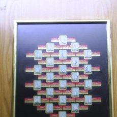 Vitolas de colección: 24 VITOLAS COLECCION COMPLETA DE VELEROS - EN CUADRO - MIDE 32X27 CM - HOLLAND - HUDSON. Lote 38405226
