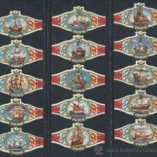 Anéis de charuto de coleção: VITOLAS NEREIDA - BARCOS VELEROS (25 VITOLAS). Lote 182162350