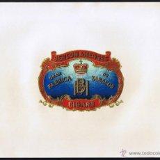 Anéis de charuto de coleção: HABILITACION -VISTA .- TITULO: BENSON & HEDGES.- TEMA: CORONAS, LETRAS ENLAZADAS. Lote 39341102