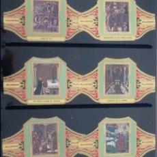 Vitolas de colección: VITOLAS ALVARO BERRUGUETE (CUADROS DE PINTORES ESPAÑOLES). COMPLETA 12 VITOLAS.. Lote 39435662
