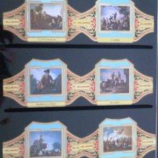 Vitolas de colección: VITOLAS ALVARO GOYA SERIE II (CUADROS DE PINTORES ESPAÑOLES). COMPLETA 12 VITOLAS.. Lote 39436001