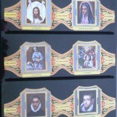 Vitolas de colección: VITOLAS ALVARO EL GRECO SERIE II (CUADROS DE PINTORES ESPAÑOLES). COMPLETA 12 VITOLAS.. Lote 39436068