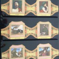 Vitolas de colección: VITOLAS ALVARO RIBERA SERIE II (CUADROS DE PINTORES ESPAÑOLES). COMPLETA 12 VITOLAS.. Lote 39436152
