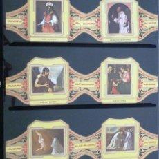 Vitolas de colección: VITOLAS ALVARO ZURBARAN SERIE II (CUADROS DE PINTORES ESPAÑOLES). COMPLETA 12 VITOLAS.. Lote 39436248