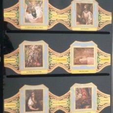 Vitolas de colección: VITOLAS ALVARO EL GRECO SERIE III (CUADROS DE PINTORES ESPAÑOLES). COMPLETA 12 VITOLAS.. Lote 39436306