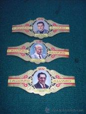 Vitolas de colección: 3 VITOLAS - SERIE LITERATOS Nº 152 BARTOLOME SOLER 183 VICENTE AILEXANDRE 184 CARLOS MUÑIZ ROMERO. Lote 40075340