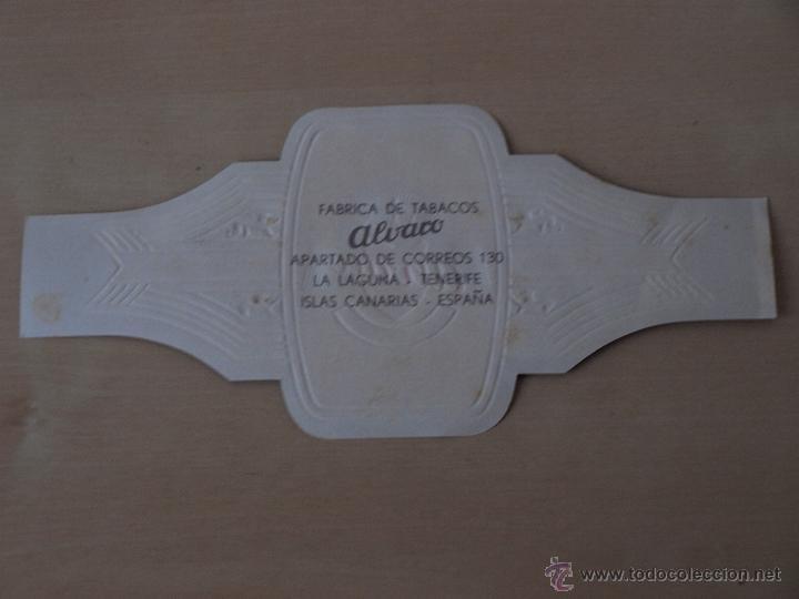 Vitolas de colección: VITOLA ALVARO. FABRICA DE TABACOS ESPECIALES. 15,1 X 7 CM. - Foto 2 - 40080891