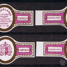 Vitolas de colección: LA ESMERALDA .- EXCURSION A CANDELARIO DEL GRUPO VIT. DE MADRID 1996 (4 VITOLAS).- SERIE COMPLETA. Lote 40629249