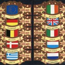 Vitolas de colección: VITOLAS ALVARO - ESPAÑA EN EUROPA (30 VITOLINAS). Lote 40918647