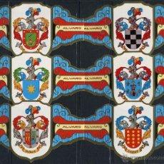 Vitolas de colección: VITOLAS ALVARO - ESCUDOS HERALDICOS I (24 VITOLINAS). Lote 40918671