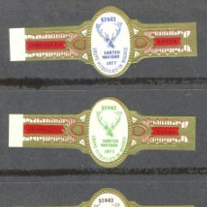 Vitolas de colección: LA ESMERALDA.- LOTERIA DE NAVIDAD DEL GRUPO VIT. DE MADRID 1977 (3 VITOLAS) .- SERIE COMPLETA . Lote 41350221