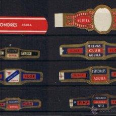 Anéis de charuto de coleção: VITOLA CLASICA .- MARCA: AGUILA TINERFEÑA DE M. MORALES CLAVIJO (CANARIAS) CONJUNTO DE 8 VITOLAS . Lote 42794792