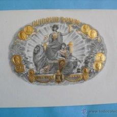 Vitolas de colección: LITOGRAFIA FLOR FINA,LA HOJA MIDE 25X15. Lote 42166733