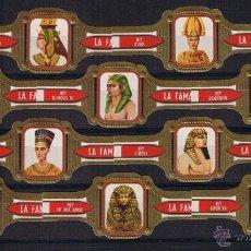 Vitolas de colección: LA FAMA .- DIOSES Y FARAONES (10 VITOLAS) .- SERIE COMPLETA . Lote 42588057