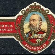 Vitolas de colección: VITOLA LA MODERNA - EDUARDO VII CASA REAL INGLESA . Lote 42791302