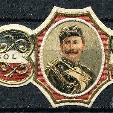 Vitolas de colección: VITOLA GUILLERMO II - CASA IMPERIAL ALEMANA. Lote 42791399
