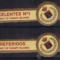 Anéis de charuto de coleção: VITOLA CLASICA .- MARCA: DE COSSIO (CANARIAS).- TEMA: ESCUDOS.-(CONJUNTO DE 2 VITOLAS) . Lote 43235756
