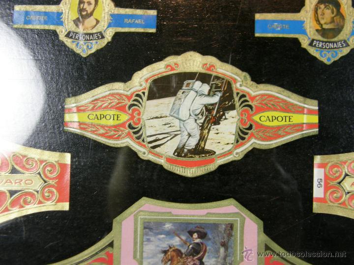 Vitolas de colección: vitolas antiguas alvaro y capote cuadro 30 vitolas enmarcadas Álvaro capote 61 x 31 cm - Foto 2 - 44282305
