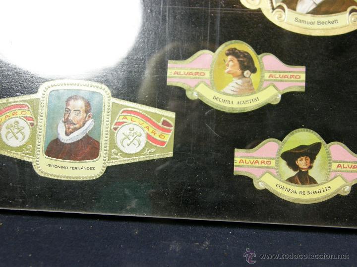 Vitolas de colección: vitolas antiguas alvaro y capote cuadro 30 vitolas enmarcadas Álvaro capote 61 x 31 cm - Foto 4 - 44282305