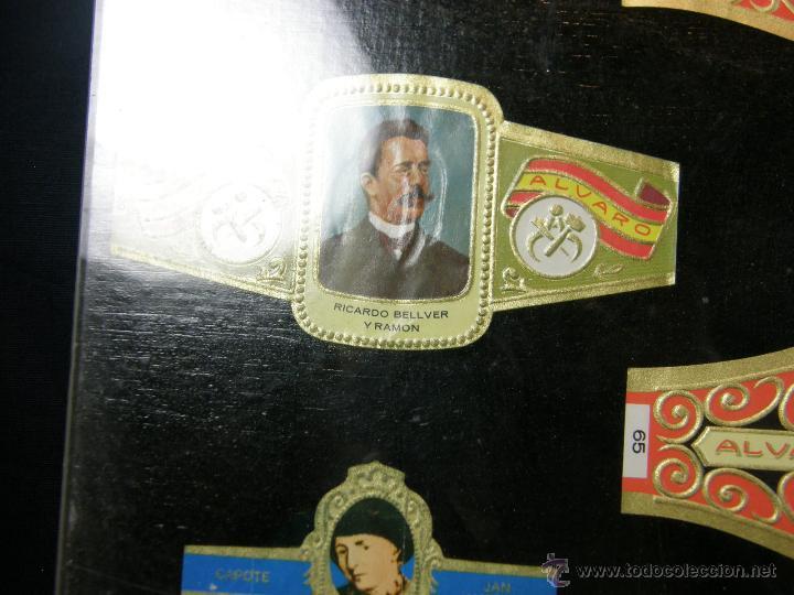 Vitolas de colección: vitolas antiguas alvaro y capote cuadro 30 vitolas enmarcadas Álvaro capote 61 x 31 cm - Foto 5 - 44282305