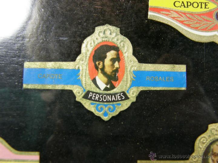 Vitolas de colección: vitolas antiguas alvaro y capote cuadro 30 vitolas enmarcadas Álvaro capote 61 x 31 cm - Foto 9 - 44282305