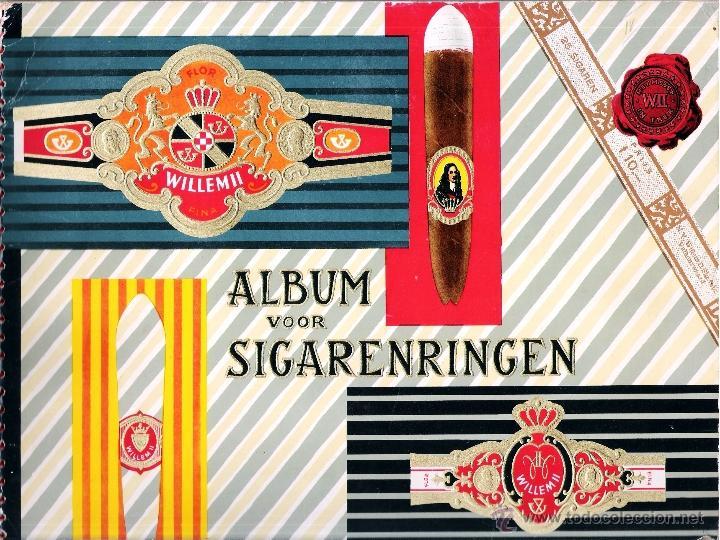 ALBUM VITOLARIO GENERAL DE WILLEM II HECHO EN HOLANDA EN 1959, TODAS NUMERADAS EN TOTAL 675 ANILLAS. (Coleccionismo - Objetos para Fumar - Vitolas)