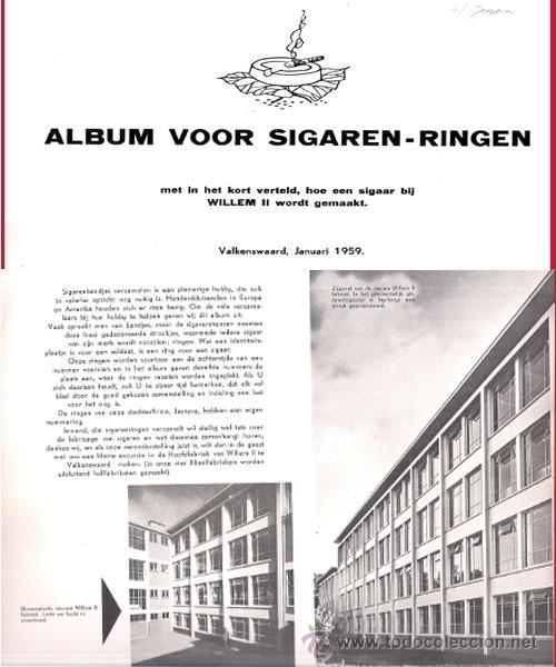Vitolas de colección: ALBUM VITOLARIO GENERAL de WILLEM II HECHO EN HOLANDA EN 1959, TODAS NUMERADAS EN TOTAL 675 ANILLAS. - Foto 2 - 44956404