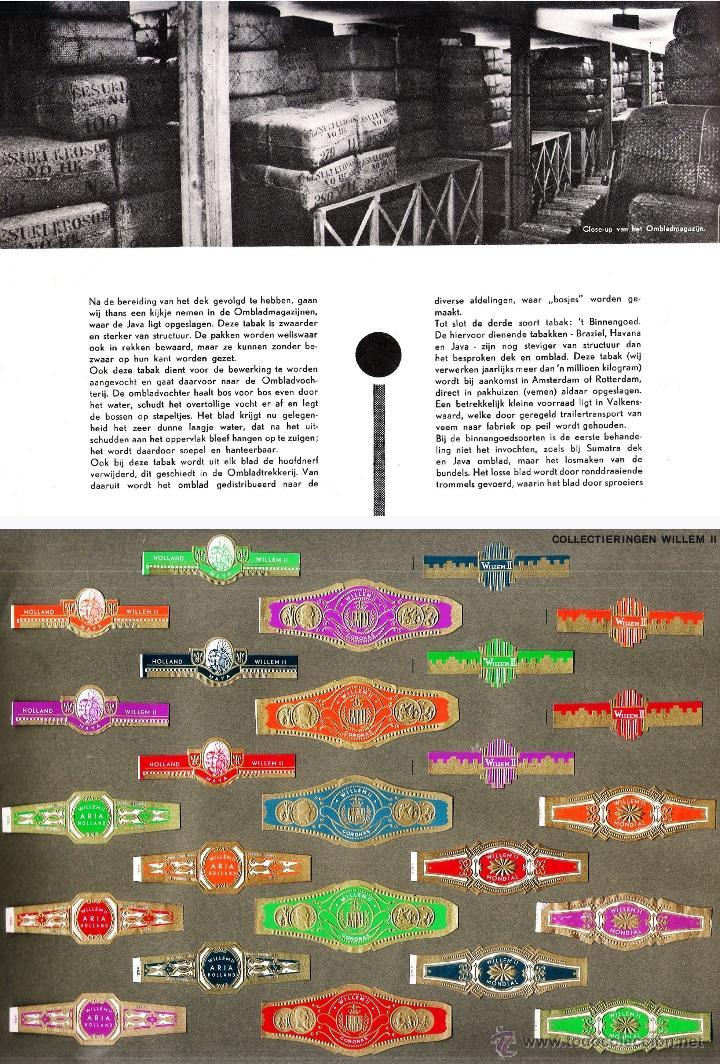 Vitolas de colección: ALBUM VITOLARIO GENERAL de WILLEM II HECHO EN HOLANDA EN 1959, TODAS NUMERADAS EN TOTAL 675 ANILLAS. - Foto 6 - 44956404